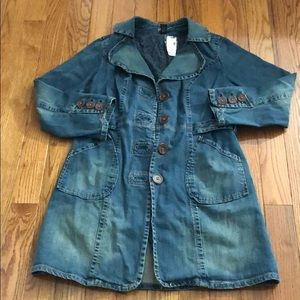 NWT women's Lane Bryant denim trench jacket